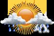Pancadas de Chuva - Chuva de curta duração e pode ser acompanhada de trovoadas a qualquer hora do dia