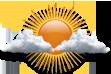 Parcialmente Nublado - Sol entre poucas nuvens