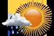 Possibilidade de Chuva - Nebulosidade variável com pequena chance (inferior a 30%) de chuva