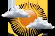 Variação de Nebulosidade - Períodos curtos de sol intercalados com períodos de nuvens